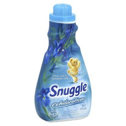 Snuggle Exhilirations Blue Iris & Bamboo Silk Liquid Fabric Softener 50 oz