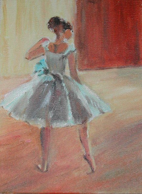 Degas Ballerina capturing the physical movement of ballet and the delicate appearance of the body movement associated with the dance through this work of art.