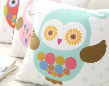 Cotton Fabric Panel - Colorful Owls - Owl Fabric By the Cut 59294-58 - GJ