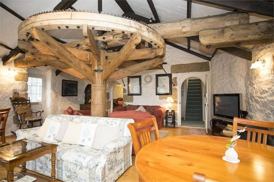What an amazing room! Roundhouse Mill, Par, Cornwall