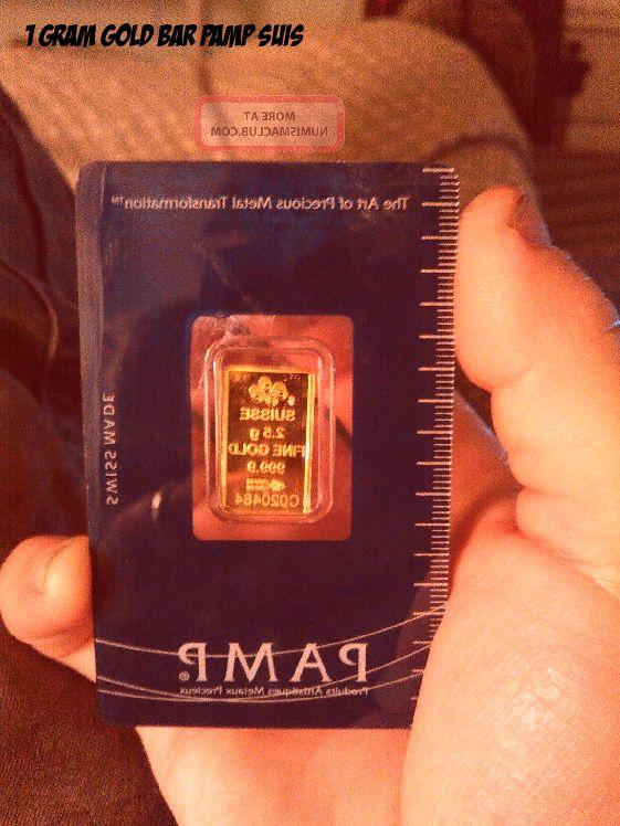 Pamp 1 Gram Gold Bar In 2020 Gold Bar Gold Bar