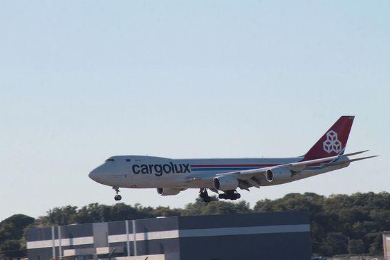 Boeing 747 de la compagnie Cargolux vendredi à l'aéroport de Toulouse Blagnac