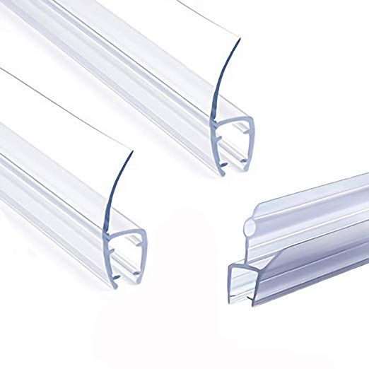 Frameless Shower Door Seal Strip Weather Stripping Seal Sweep With Drip Rail For 3 8 Inch Glass 39 L Shower Doors Frameless Shower Door Seal Shower Door Seal