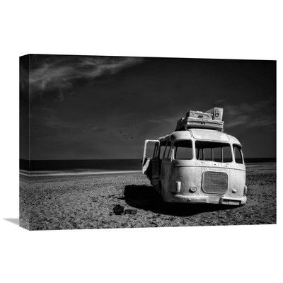 Global Gallery 'Beached Bus' by Yvette Depaepe Photographic Print on Wrapped Canvas Size: