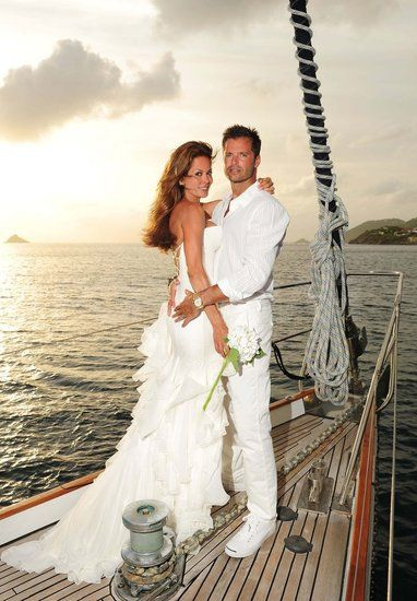 Longtime loves Brooke Burke and David Charvet traveled to St. Barts to seal the deal in August.