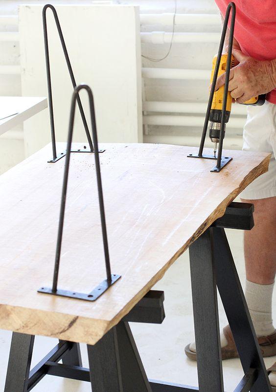 Diy como hacerte una mesa de centro de estilo industrial - Patas para somier leroy merlin ...
