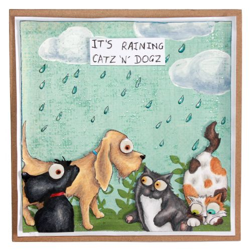 CS129D 'Catz' Clear set contains 12 stamps.Stamp Set designed by Sharon Bennett. Card by Sally Dodgers: