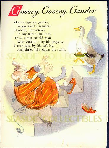 1950s childrens poems | full view of VINTAGE 1950s HILDA BOSWELL Full Color Lithograph