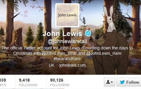 John Lewis makes hare-raising Twitter mistake as it promotes wrong accounts for bear and hare