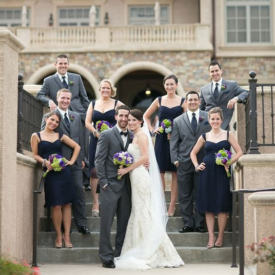 Gray Navy And White Bedroom: Navy Blue And Red Wedding Party