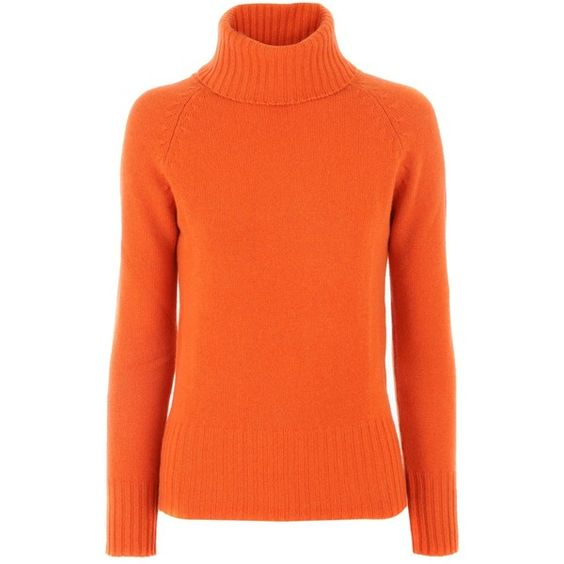 Stephan Boya Orange Cashmere Pullover Laura ($450) ❤ liked on Polyvore