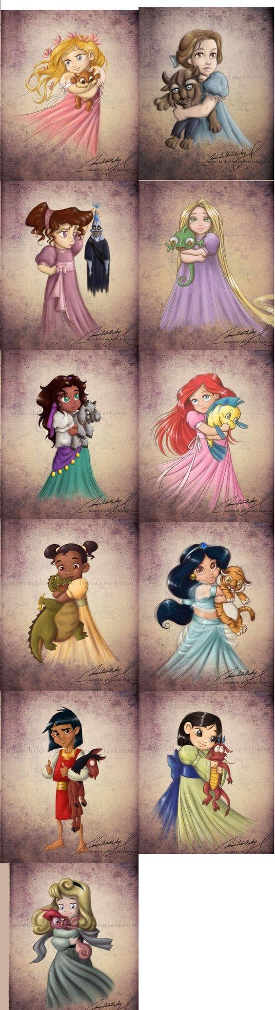 OMG LOOOOVE & love that they included #Kusko :) #disney #princess babies