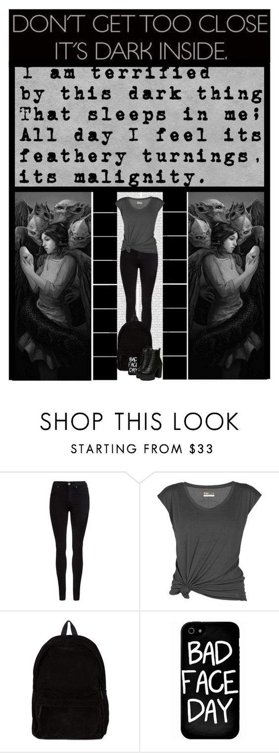 """terrified..."" by ilovehedgehogs1029 ❤ liked on Polyvore featuring Oris, Dr. Denim, Miss Me, Lija, Ann Demeulemeester, Local Heroes, Dark, emo, goth and depression"
