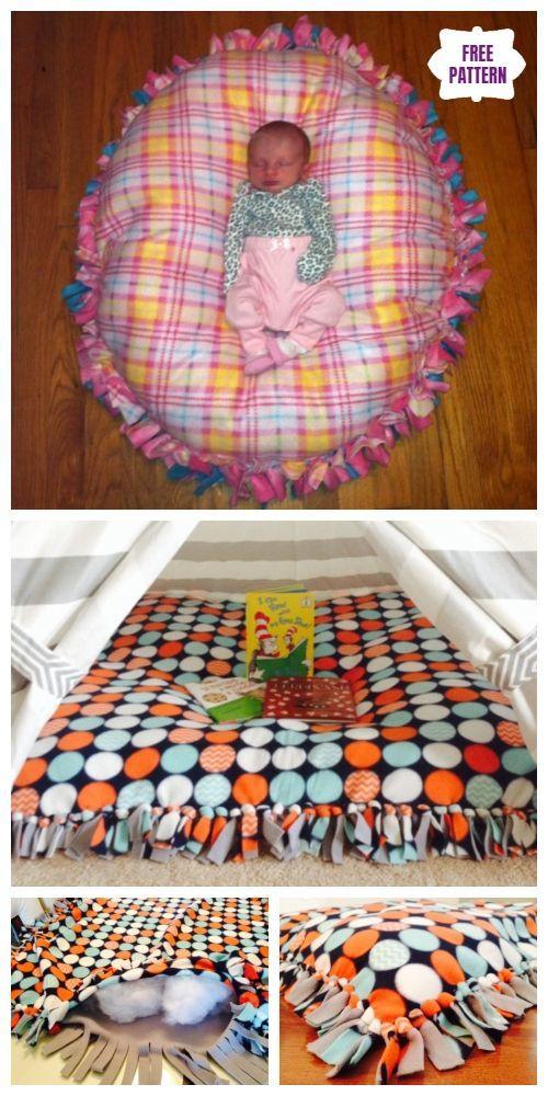 Diy No Sew Floor Pillow Bed Floor Pillows Diy Sewing Room Decor Diy Baby Clothes