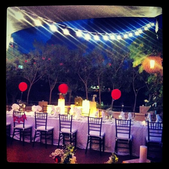 Wedding reception with vintage circus theme at Dreams Puerto Aventuras