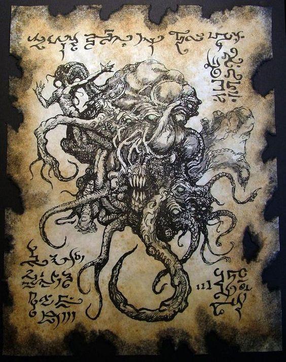 El Necronomicón,un libro salido de los infiernos 8f54d874e8bee03f739c063027d2e181