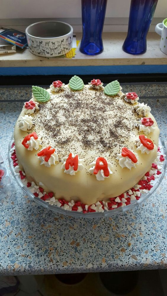 Marzipan Mohn Torte