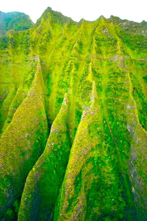 Hawaii, green peaks of Molokai