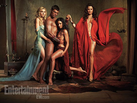 Spartacus stars Viva Bianca, Liam McIntyre, Katrina Law, and Lucy Lawless