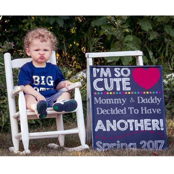 2nd Pregnancy Announcement, Pregnancy Chalkboard Sign, Baby Reveal, Baby Announcement, Pregnancy Reveal, Sibling Announcement, 2nd Baby by PrintsInspiredByMyah on Etsy