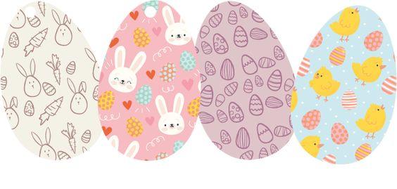 nyomtatható húsvéti dekorációk