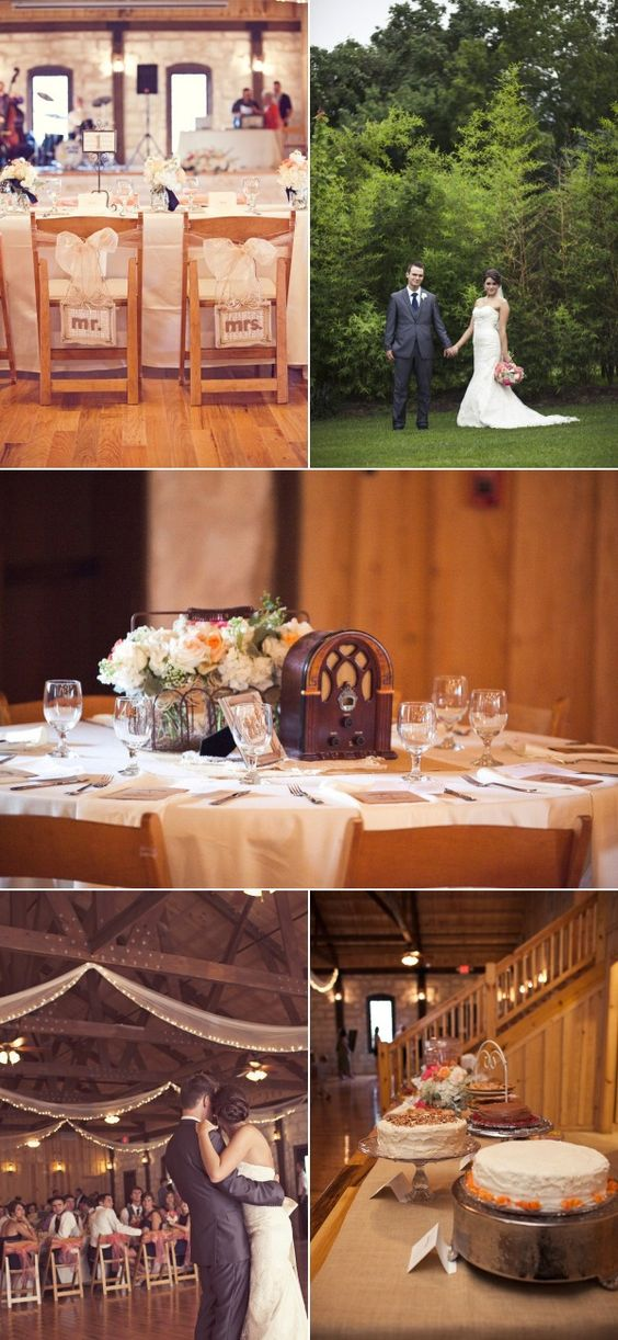 Mr. and Mrs. Signs, vintage centerpiece, Crystal Springs