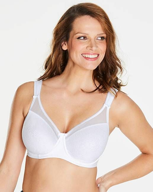 Ladies Pink Lace Non Padded Underwire Smoothline Full Cup T Shirt Everyday Bra