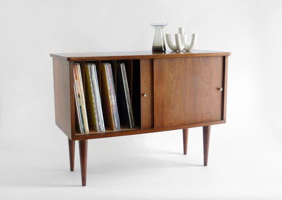vintage swedish teak record cabinet mid century credenza by moved wood pinterest record cabinet mid century credenza and teak