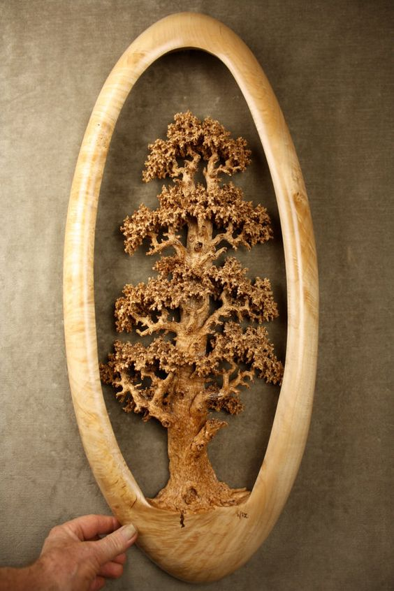Expensive Best Of Etsy Carved Wood Oak Tree Wood Carving