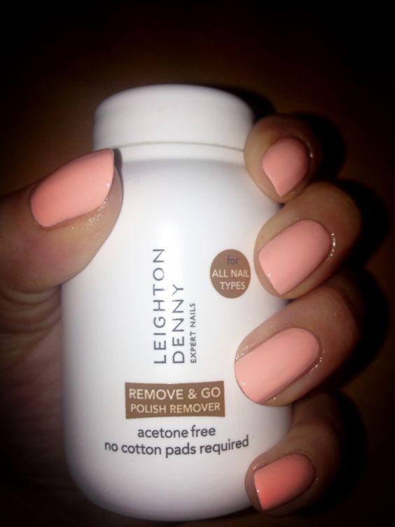 Leighton denny nail polish remover, remove and go pot