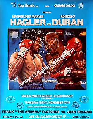 MARVELOUS MARVIN HAGLER vs ROBERTO DURAN / Boxing Fight Poster