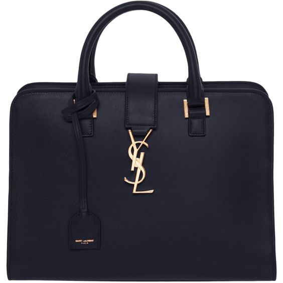 ysl black and white handbag - Saint Laurent Small Cabas Monogram Leather Satchel by Saint ...