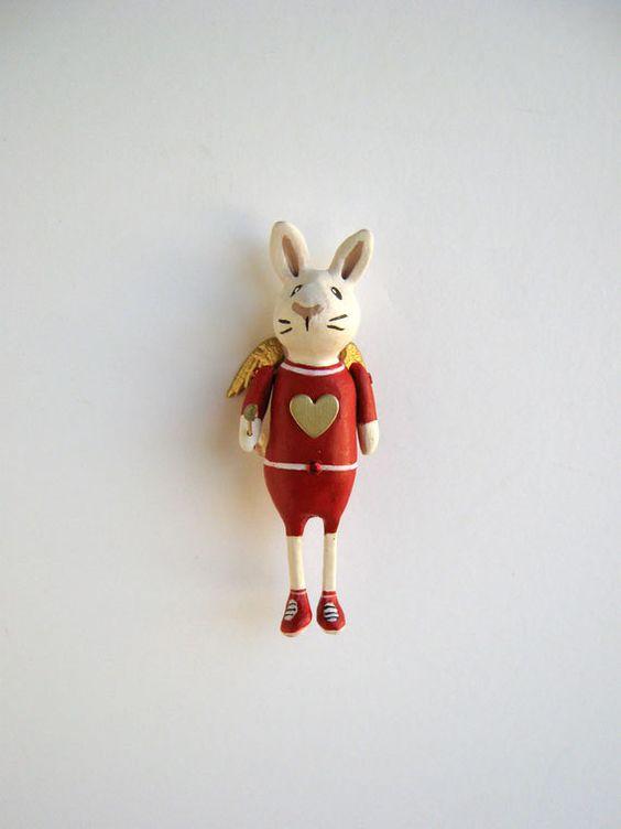 Valentine rabbit pin!