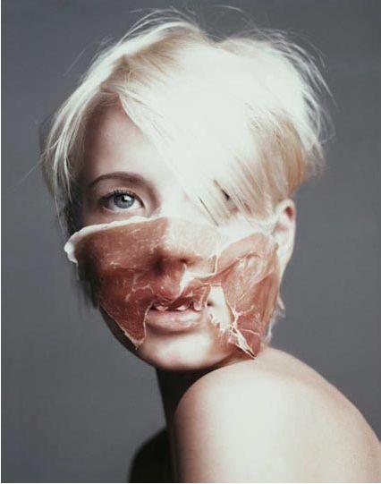 fantastic 'food' mask - Marcel van der Vlugt, photographer, 2002