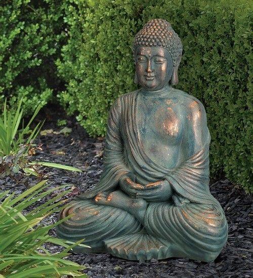 Large Sitting Buddha Statue Decor 16 Outdoor Garden Zen Spiritual Yoga Figure 822451590660 Ebay Buddha Statue Decor Buddha Statue Statue