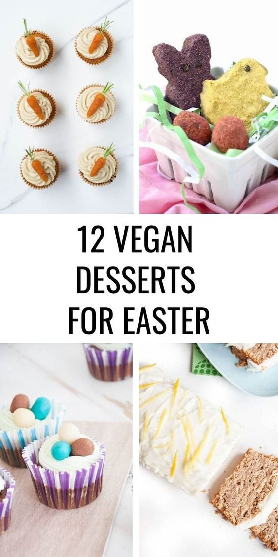 12 Vegan Easter Dessert Recipes | Elephantastic Vegan
