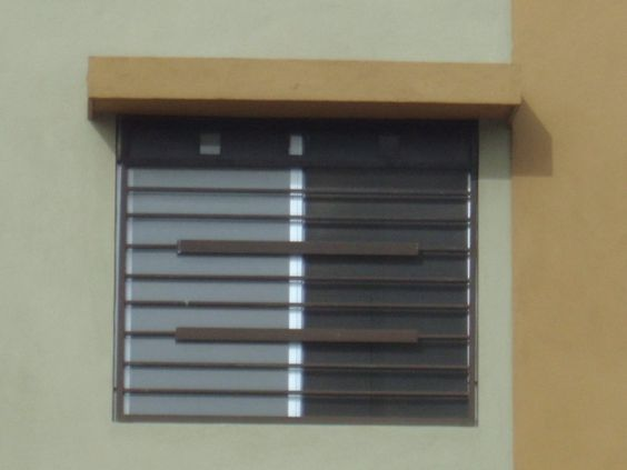 Imagen de dise o horizontal de protecciones de ventana - Proteccion para casas ...