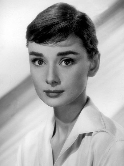 1960s Audrey Hepburn thicker, natural eyebrows