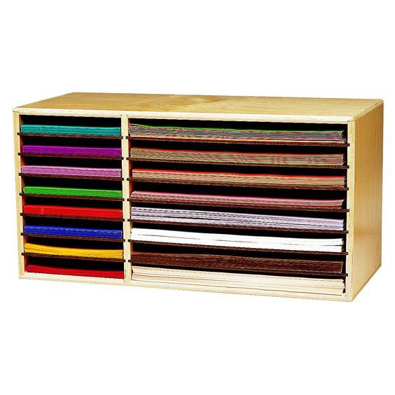 16 Compartment Shelving Unit Construction Paper Storage Paper Storage Paper Holder