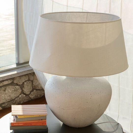 Lampada Con Base In Ceramica E Paralume In Tessuto Lampade Da Tavolo Tavolo In Ceramica Lampade