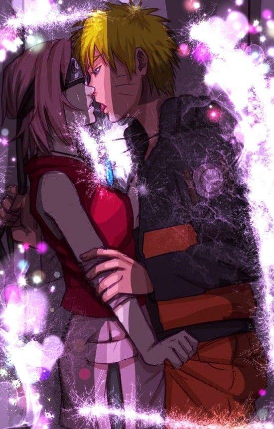 Naruto E Sakura Kiss Crazyin Love Narusaku Hotlove In Shippudentonight Animes Wallpapers Casais Bonitos De Anime Sakura