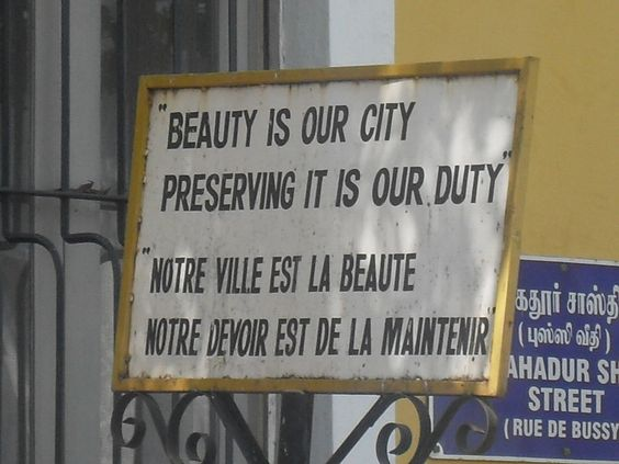Beauty is our city. Preserving it is our duty.
