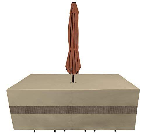 Sunpatio Outdoor Patio Furniture Cover, Round Patio Furniture Covers With Umbrella Hole
