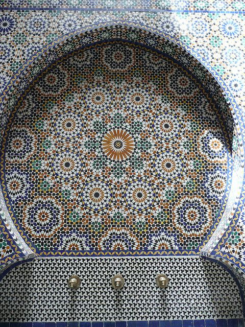 Moroccan .  Fonte de água