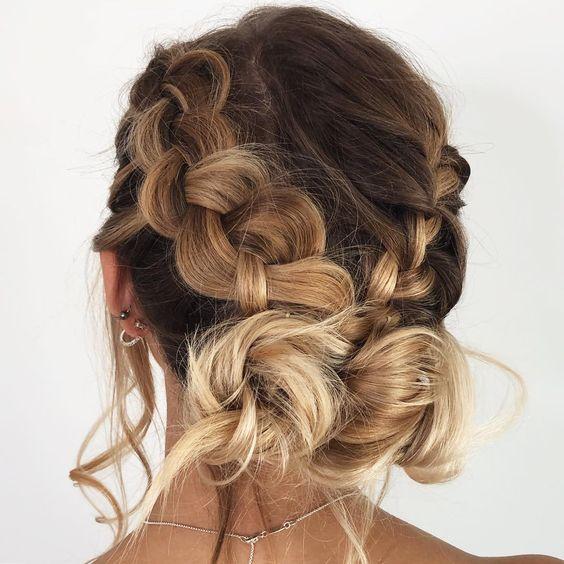 hairstyle #braid #braids #knotbraid #hair #hairstyle
