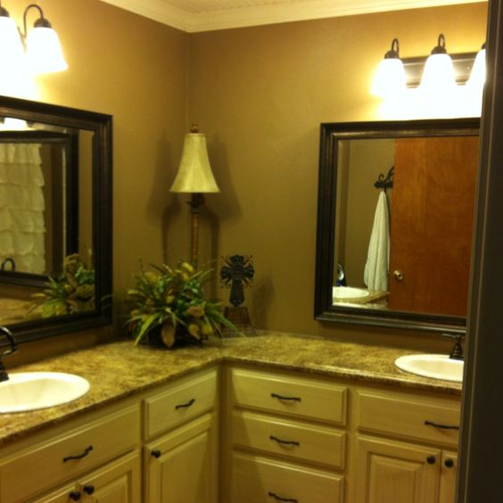 L Shaped Vanity Our Bathroom Pinterest Bathroom Vanities Vanities And Bathroom