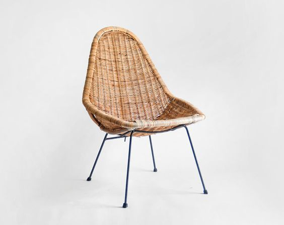 Mid Century Basket Chair