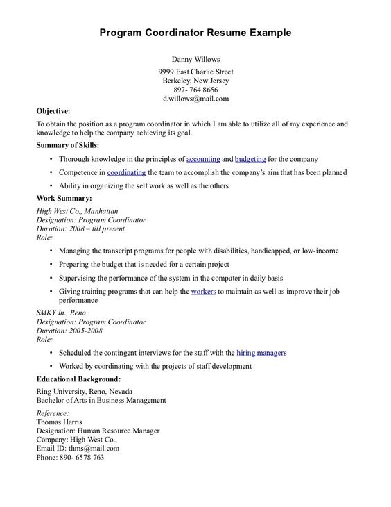field coordinator cover letter review essay examples branch sales - program coordinator resume