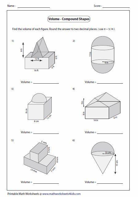 Volume Of Irregular Shapes Worksheet Volume Shapes Worksheets Did You Know Volume Shapes In 2020 Shapes Worksheets Volume Worksheets Worksheets Volume of shapes worksheets