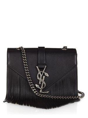 Monogram small fringed leather cross-body bag | Saint Laurent | MATCHESFASHION.COM